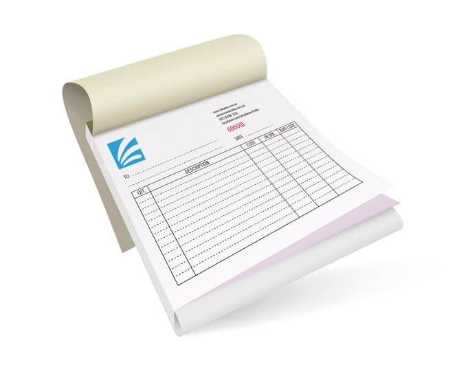 Printed NCR Invoice Book